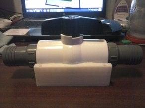 "1.25"" Ball valve mounting cradle"