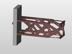 cantilever beam lower and upper edge -Z maximize stiffness