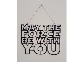 May the force wall art