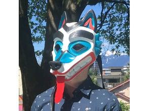 Wolf Mask Salish Style