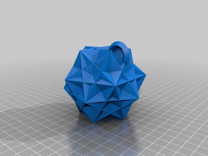 BlocksCAD Snowflake Ornament