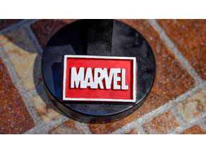 Marvel Logo Plaque Rectangle