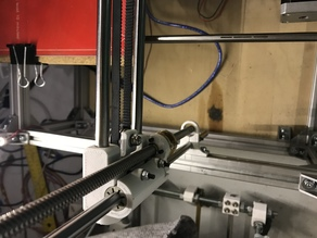 Improved Smooth X-axis for Prusa i3 with Leadscrews (adds Adjustable Backlash and Clearance)