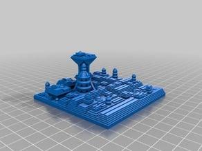 My Customized Sci Fi City Builder (seed: 1990)