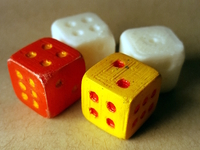 6d balanced dice rotated printing