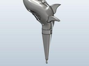 Fishing Bobber - Cartoon Shark