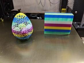 Multicolored Voronoi Easter Egg