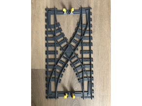 large train track switch