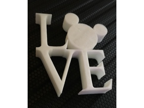 Mickey Love Statue Magnet