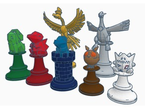 2nd Generation Pokemon Chess Set