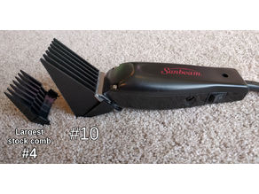 Parametric hair clipper comb attachment