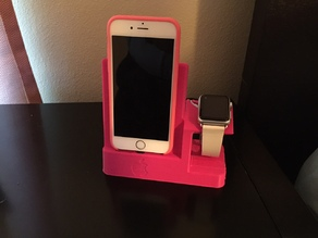iPhone and Apple watch dock.