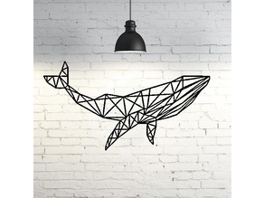 Whale Wall Sculpture 2D