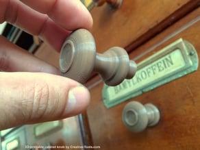3D-printable generic cabinet knob