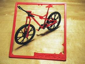 Snap-Together Model Mountain Bike