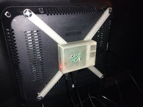 RaspberryPi 3 case, no screws with 200x200mm vesa mount