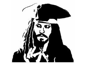 Jack Sparrow stencil