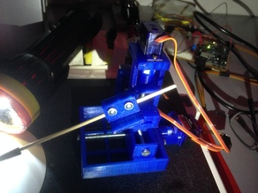 Parametric 3 axis manipulator - optional servo mounts*