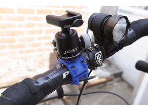 31.8mm handlebar tripod head mount 1/4