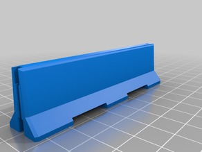 1:35 Scale 10' Concrete Jersey Barrier