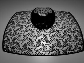 Stereographic projection flat MC Escher lizards highres