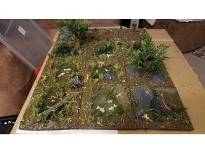 Swamp/Forest Terrain Tiles 6x6 for RPG and Wargame