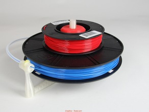 Universal stand-alone filament spool holder (Fully 3D-printable)