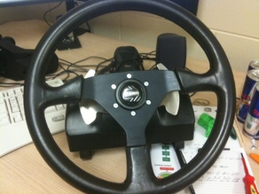 Logitech G25 to Momo steering wheel adaptor.
