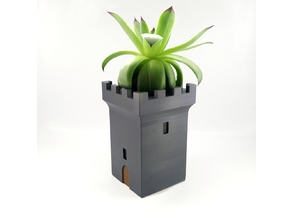 Medieval tower planter