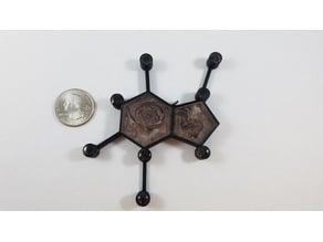 Chocolate Molecule Fillable Pendant