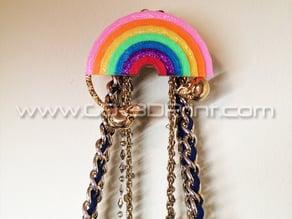 Coat / Jewelry Hanger Organizer Weather Wall Hook – Rainbow