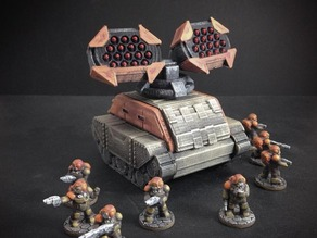 Missile Battery Turret for Gilgamesh Battle Tank (15mm scale)