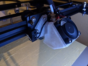 Creality CR-10 / Ender hotend cover for stock fan and ABL sensor mouting