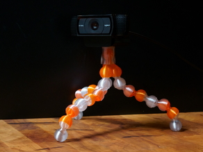 Streamlined Segmented and Spiraled Tripod for Gopro, Phone and Anything You Got