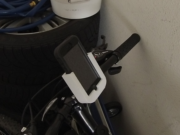 check out 61d07 00f85 Handlebar Mount - iPhone 5 w/ Otterbox Case by Lycan004 - Thingiverse