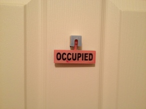 Bathroom Occupied / Vacant Sign
