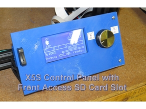 X5S Control Panel With SD Card Slot