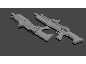 Heavy Shotgun split in half for easy printing