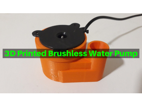 3D Printed Brushless Water Pump