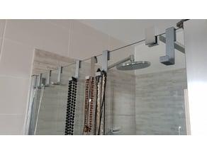 Crochet douche en verre 6 et 8mm
