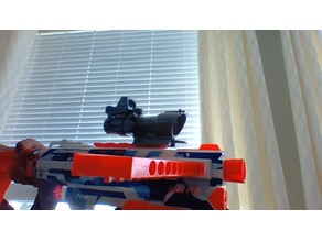 Nerf Compatible 4x AcOG hybrid reflex scope