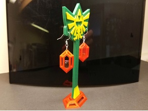 Zelda Triforce Jewelry Display Stand