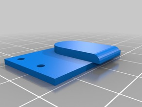 extruder hole cover for uDelta Rework