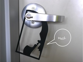 Door hanger 3 - Hush