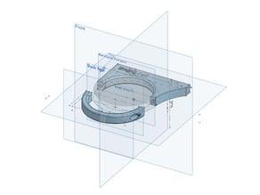 EKWB fan mounting bracket for 60mm coolant reservoir