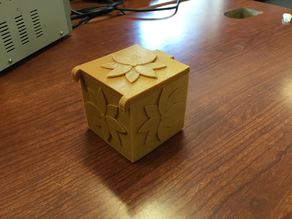 Puzzle cube box