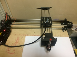 DrawingBot plotter, laser engraver on the base MG996R servo , EleksMaker® software