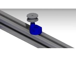 Simple belt tensioner for 2020 profile