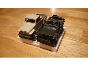 1:64 Scale Diecast Vehicle Display Block