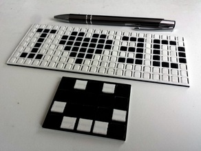 Fliptrix - customizable print-in-place dot matrix style flip board display